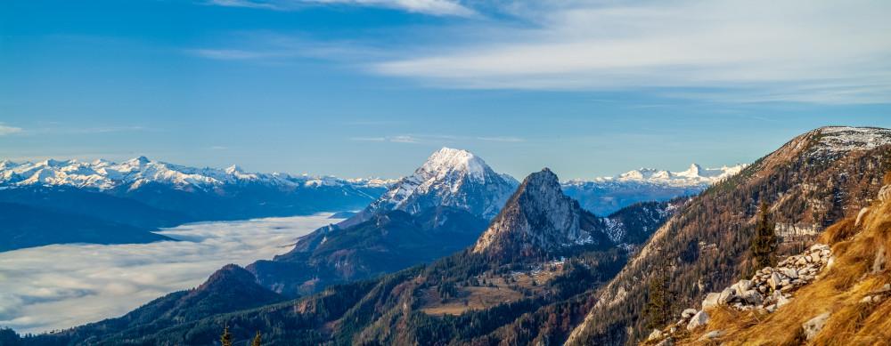 - Berg Dachstein Europa Grimming Hochtausing Karstgestein Natur Panorama Steiermark Tausing Totes Gebirge grau Österreich
