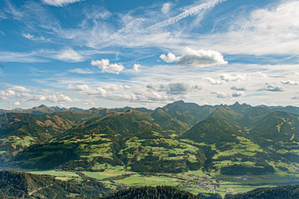 - Berg Ennstal Europa Gröbming Gröbmingerland Himmel Hochland Natur Steiermark Stoderzinken Wolken grau Österreich