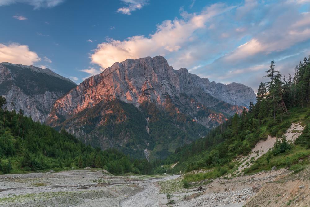 - Berg Bildeigenschaft Bildinhalt Ennstal Europa Gesäuse Gstatterboden Hochland Natur Planspitze Sommer Steiermark Ungesättigt grau Österreich