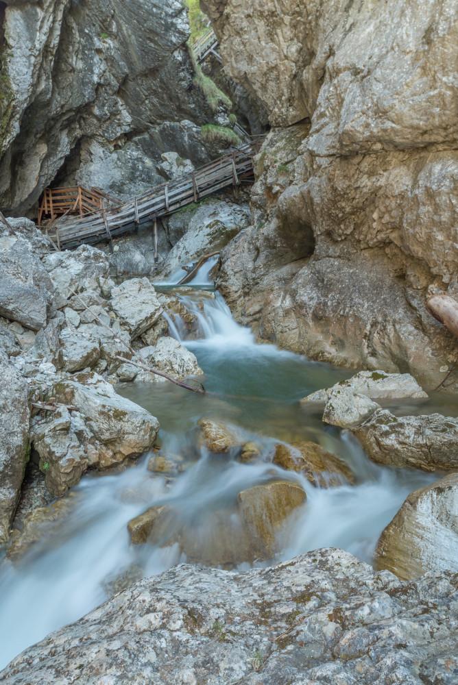 - Ennstal Europa Hochformat Klammen Outdoor Schlucht Steiermark Textur Wandern Wasser Wörschach Wörschach Klamm grau Österreich