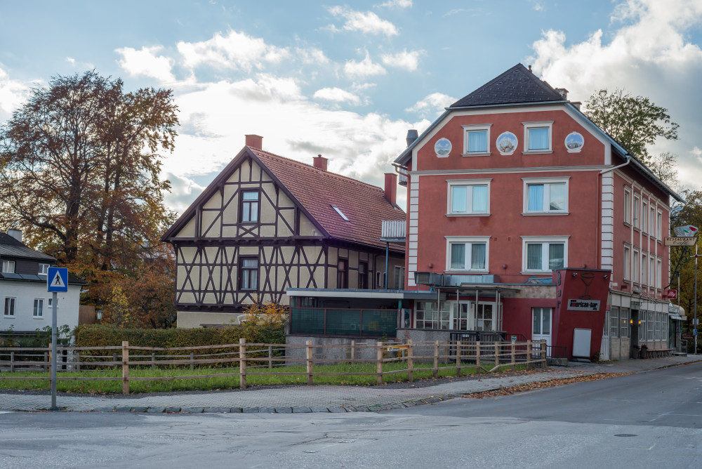 dokumentarische Bilder der Stadt Liezen - Architektur Ennstal Europa Gebäude Haus Innenstadt Liezen Stadt Steiermark Stockfoto dokumentarisch Österreich