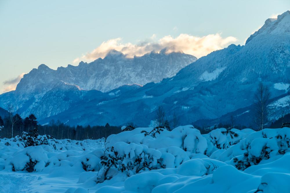 - Berg Natur Schnee Winter grau