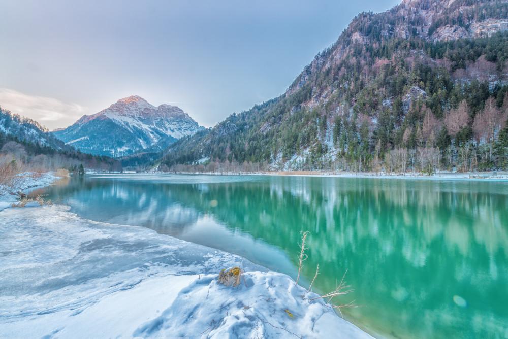 Blick auf den Buchstein - Berg Buchstein Ennstal Europa Gesäuse Gewässer Gstatterboden Highlight Jahreszeit Jahreszeiten Nationalpark Gesäuse Nationalparks Natur See Steiermark Wasser Winter Xeis Österreich
