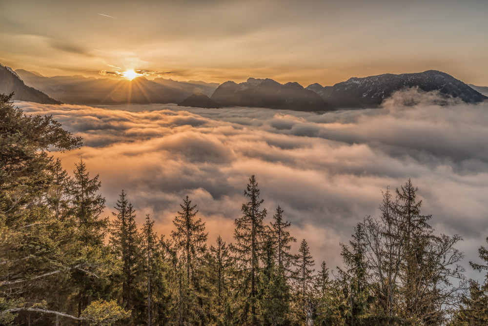 - Altaussee Ausseerland Baum Berg Europa Himmel Holz Natur Pflanze Romantisch Salzkammergut Sonnenuntergang Steiermark Tressenstein Wolken braun Österreich