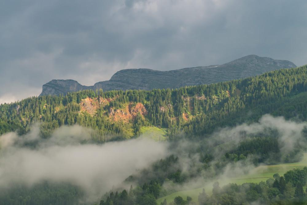 Rote Wand - Berg Ennstal Europa Gewässer Hochangern Hochland Liezen Natur Nazogl Nebel Rote Wand See Steiermark Wasser grau Österreich