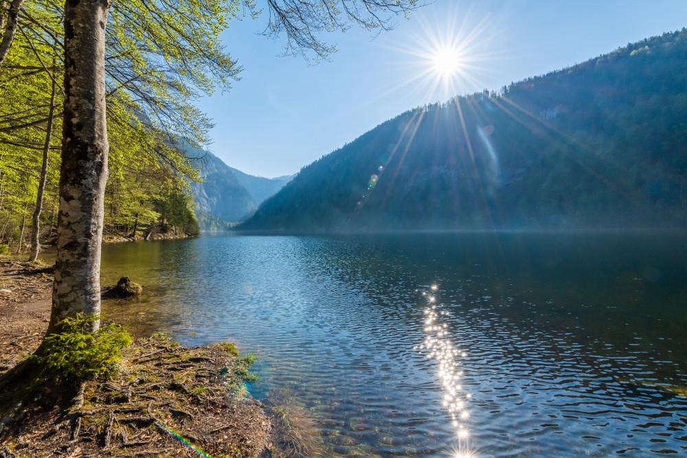 Rund um den Toplitzsee - Ausseerland Dunkel Europa Frühling Gewässer Grundlsee Jahreszeit Jahreszeiten Natur Salzkammergut Schifffahrt Grundlsee See Steiermark Toplitzsee Wasser Österreich