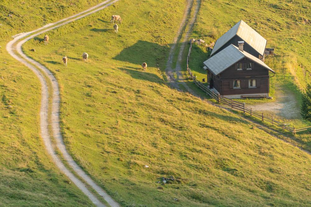 Hinteregger Alm - Alm Almen Ennstal Europa Hinteregg Hinteregger Alm Hintereggeralm Liezen Luftaufnahme Sommer Steiermark Österreich
