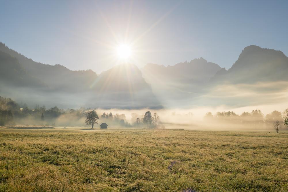 - Bildinhalt Ennstal Europa Feld Flachland Gesäuse Highlight Himmel Landwirtschaft Natur Romantisch Sonnenuntergang Steiermark Xeis Österreich
