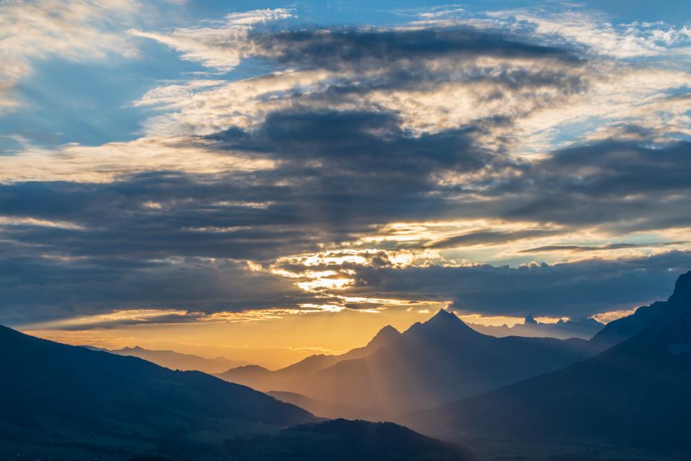 - Berg Highlight Himmel Natur Sonne Sonnenuntergang Stalingradkreuz Stoderzinken grau
