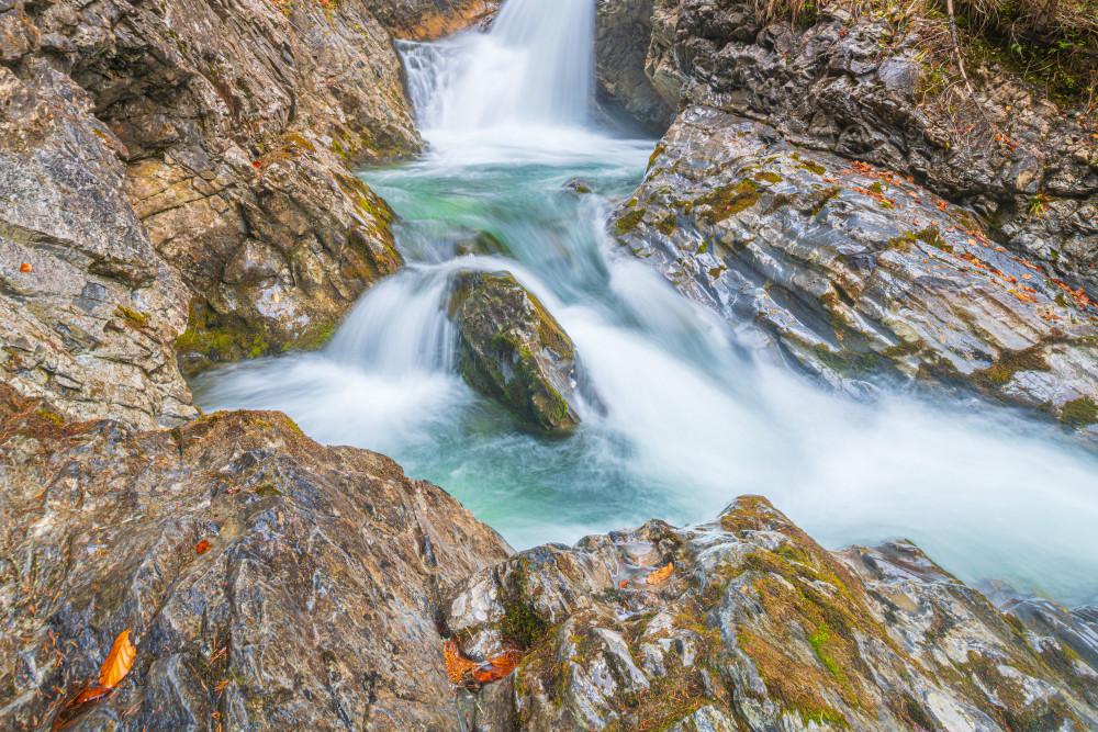 beim Tauplitzer Wasserfall - Ausseerland Bach Europa Gewässer Grimmingbach Natur Salzkammergut Steiermark Tauplitz Wasser Wasserfall grau Österreich