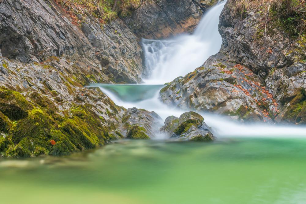 beim Tauplitzer Wasserfall - Ausseerland Bach Europa Gewässer Grimmingbach Herbst Highlight Jahreszeit Jahreszeiten Natur Salzkammergut Steiermark Tauplitz Wasser Wasserfall Österreich
