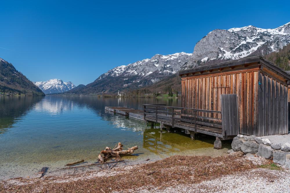 - Ausseerland Berg Europa Gewässer Grundlsee Natur Salzkammergut See Steiermark Wasser grau Österreich