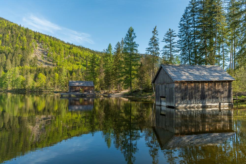 Ein herbstlicher Morgen am Ödensee - Architektur Ausseerland Europa Fluss Gewässer Natur Salzkammergut See Steiermark Wasser Ödensee Österreich