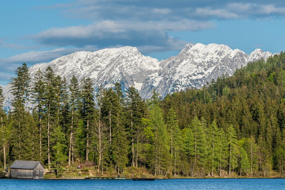 - Ausseerland Berg Bildinhalt Europa Gewässer Grimming Natur Salzkammergut See Steiermark Wasser grau Ödensee Österreich