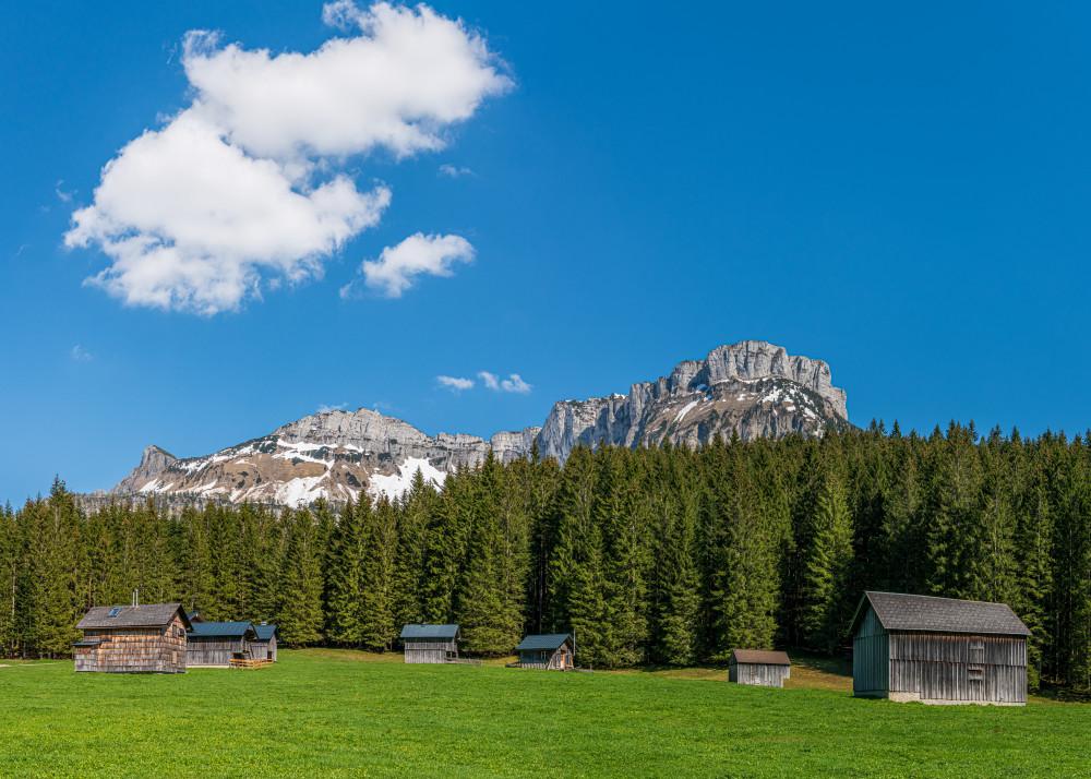 in der Blaa Alm - Altaussee Ausseerland Blaa Alm Europa Himmel Hochland Natur Salzkammergut Steiermark Wiese Wolken Österreich