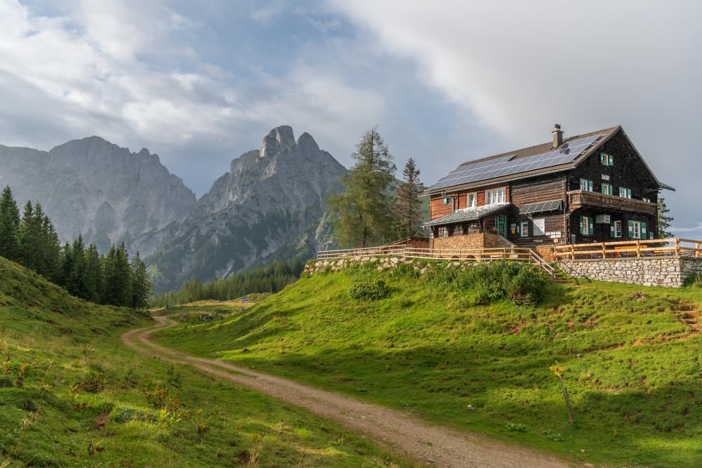- Architektur Bildinhalt Ennstal Europa Gebäude Gesäuse Hochland Mödlingerhütte Natur Steiermark Xeis grau Österreich