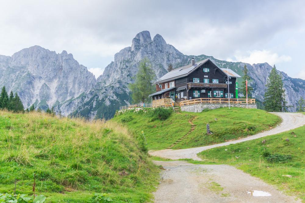 - Architektur Berg Bildinhalt Ennstal Europa Gesäuse Hochland Mödlinger Hütte Mödlingerhütte Natur Reichenstein Steiermark Xeis Österreich