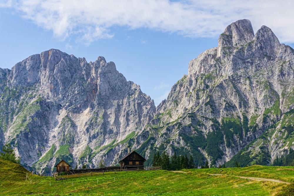 - Berg Bildinhalt Ennstal Europa Gesäuse Hochland Mödlinger Hütte Mödlingerhütte Natur Reichenstein Steiermark Xeis Österreich
