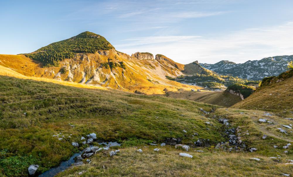- Ausseerland Bach Berg Bildeigenschaft Bildinhalt Dachstein Europa Gewässer Hochland Kontrastreich Loser Natur Salzkammergut Sand Steiermark Österreich