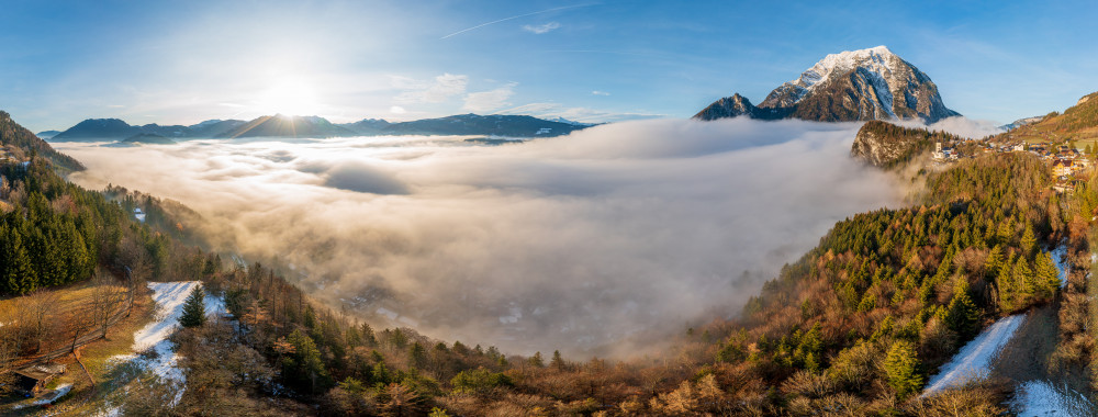 - Berg Ennstal Europa Grimming Grimming-Donnersbachtal Herbst Jahreszeit Jahreszeiten Kontrastreich Kripperl der Steiermark Natur Panorama Pürgg Steiermark Österreich