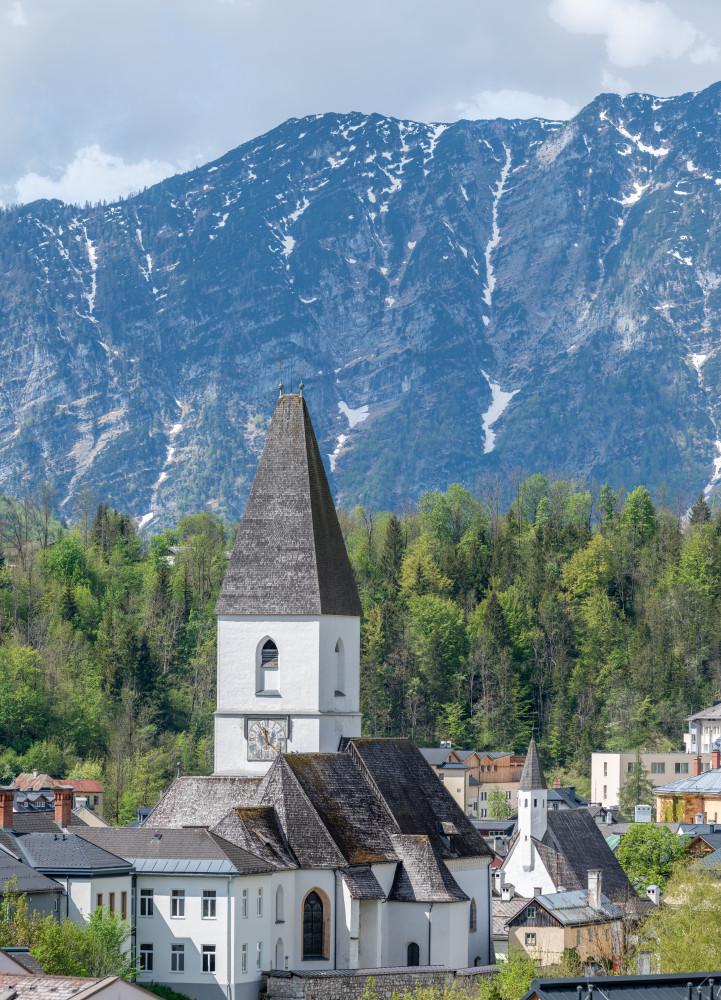 Kirche Bad Aussee - Architektur Ausseerland Bad Aussee Berg Europa Gebäude Hochformat Kirche Natur Religion Salzkammergut Steiermark Österreich