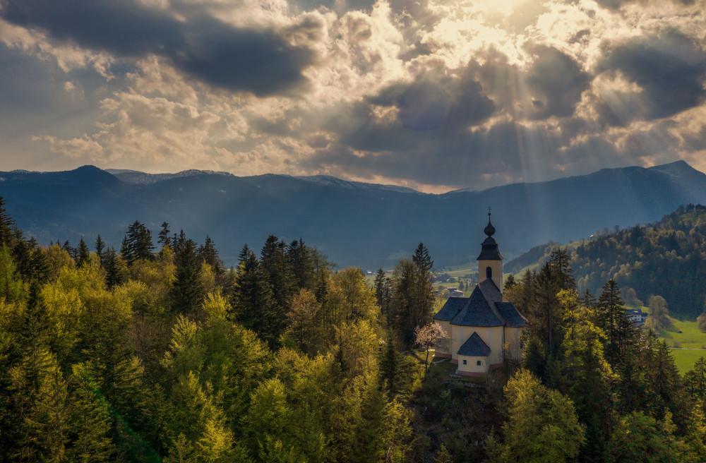 - Architektur Baum Gebäude Himmel Holz Kirche Maria Kumitz Natur Pflanze Wald Wolken
