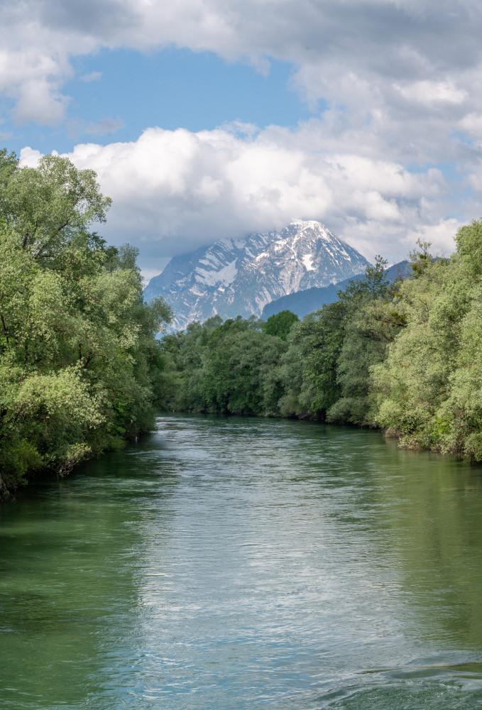 - Ennsbrücke Ennstal Europa Fluss Gewässer Natur Steiermark Ungesättigt Wasser Österreich
