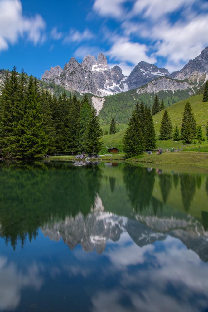 - Berg Bischofsmütze Filzmoos Gewässer Hochland Mütze Natur Pongau Salzburg See Wasser
