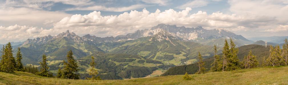 - Berg Bischofsmütze Dachstein Dachsteinsüdwd Ennstal Europa Filzmoos Gosaukamm Natur Panorama Pongau Radstadt Rossbrand Roßbrand Salzburg Schladming Steiermark Österreich