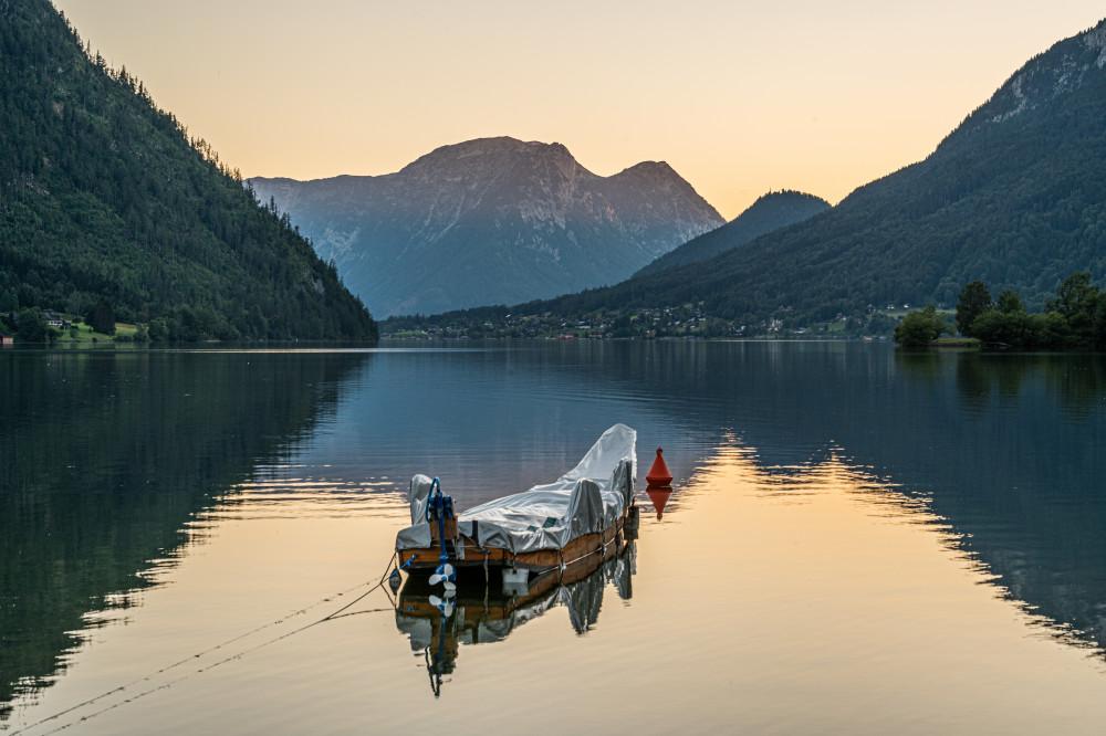 - Ausseerland Berg Europa Gewässer Grundlsee Natur Plätte Rudolf Salzkammergut See Steiermark Wasser Österreich