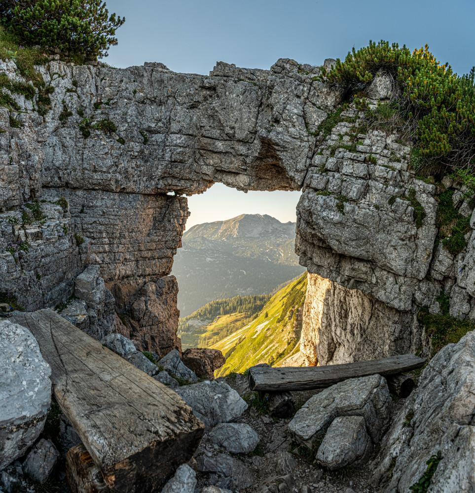 Das Loserfenster - Altaussee Architektur Ausseerland Berg Europa Highlight Hochanger Klippe Loser Loserfenster Natur Outdoor Ruine Salzkammergut Steiermark grau Österreich